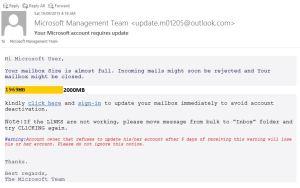 Microsoft Management Team Scam