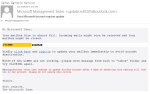 Microsoft Management Team Scam